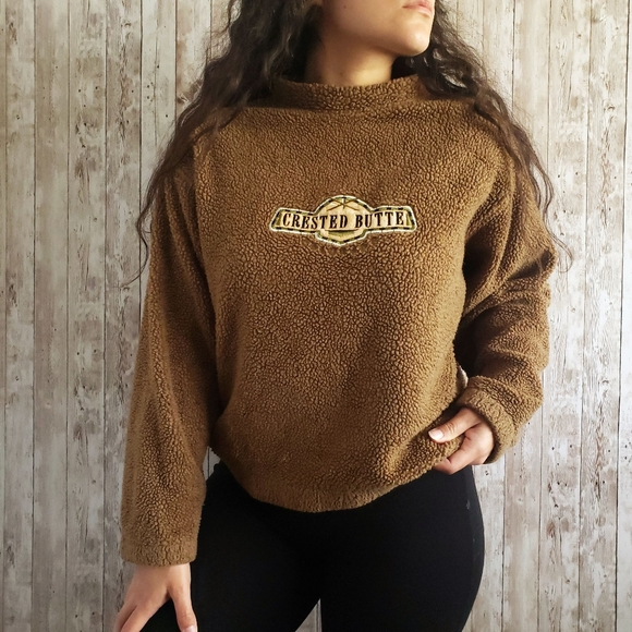 Vintage Sweaters - Vintage Colorado Crested Butte Fuzzy Sweater